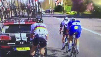 """""""Schandalig! Hallo wedstrijdjury?"""" Manoeuvre van Sagan achter volgwagen zorgt voor ophef in finale"""
