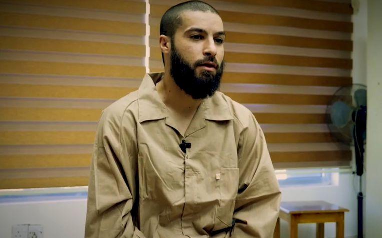 De Belgische  IS-strijder Tarik Jadaoun, die momenteel vastzit in een Iraakse cel.