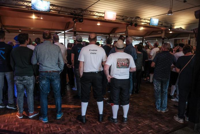 Veel belangstelling zaterdag bij de wedstrijden voor bielemannen bij Schutterij Claudius Civilus. Foto: Jan van den Brink