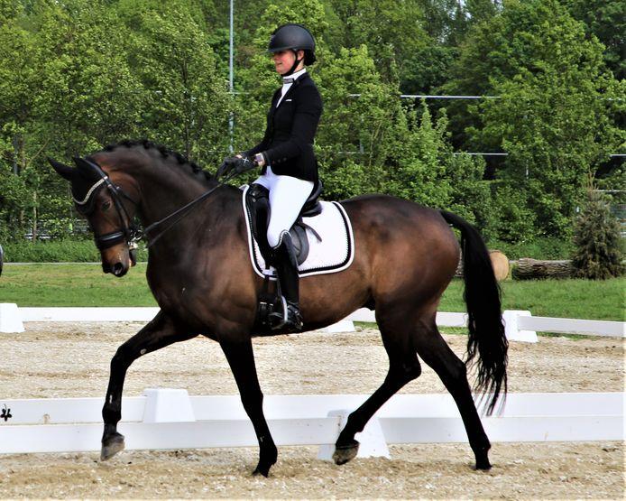 Marijke van Giesen uit Axel brengt vijf paarden ter beoordeling voor.
