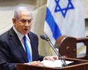 Uittredend en toekomstig Israëlisch premier Benjamin Netanyahu.