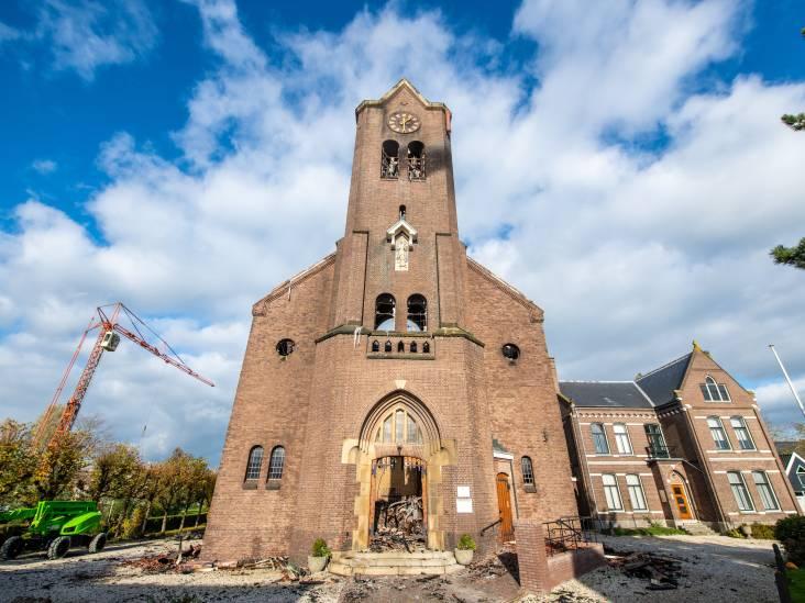 Eerste uitvaart sinds brand in Onze-Lieve-Vrouw-Geboortekerk in Hoogmade