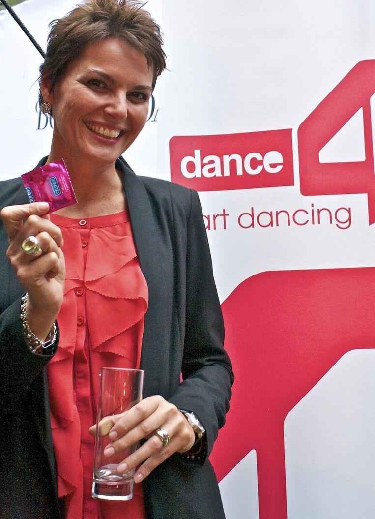 Eveline Aendekerk, executive director Dance4Life: 'Er is ruim 40.000 euro ingezameld!!' <br /> Beeld