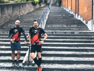 """Wat deed u de voorbije drie dagen? Rik (40) en Kevin (36) liepen drie keer de Mount Everest op... in Luik: """"We wilden opgeven, maar het lukte raar genoeg niet"""""""