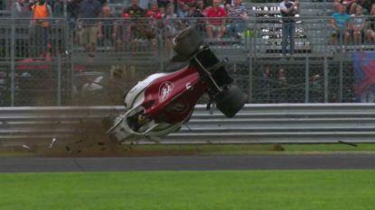 F1-oefensessie Italië ontsierd door megacrash, Vandoorne krijgt muizenissen niet weg en doet even slecht als 18-jarige concurrent