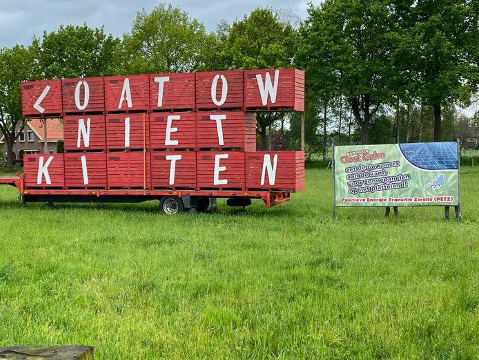 Naast Groenlo, is ook in Lichtenvoorde een spandoek geplaatst.