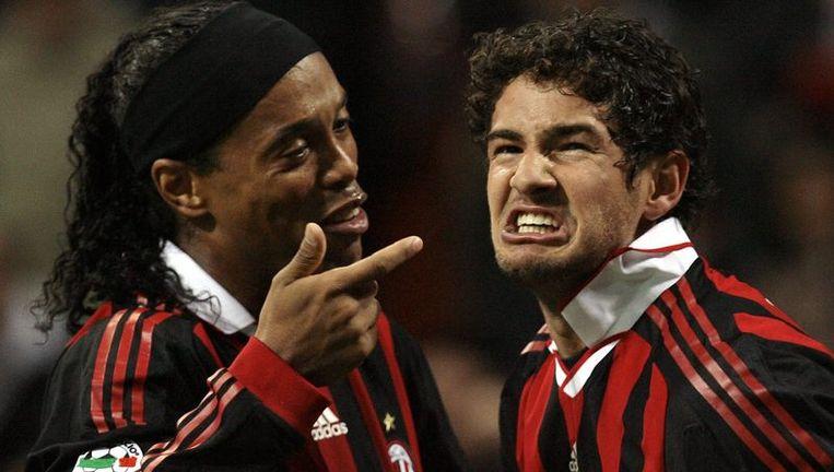 De Braziliaanse tandem Ronaldinho-Pato zorgde voor de ommekeer. Beeld UNKNOWN