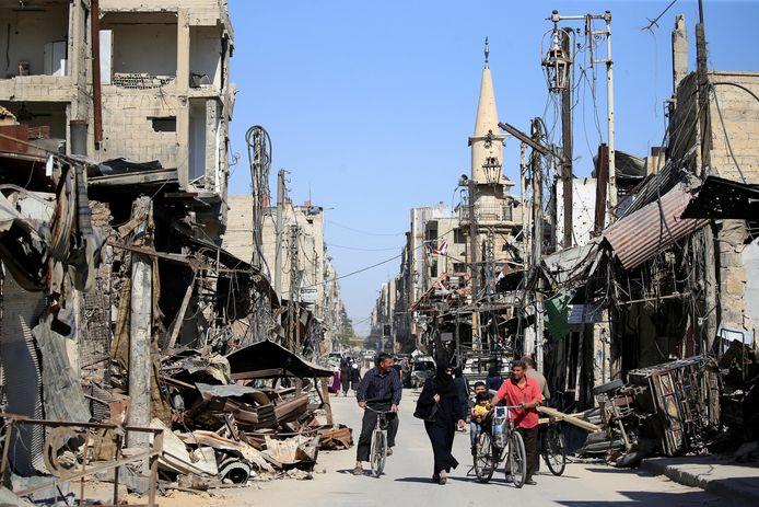 Een straat in Douma.