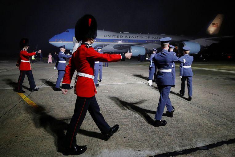 President Biden en zijn vrouw arriveerden woensdagavond in Cornwall. Beeld Getty Images