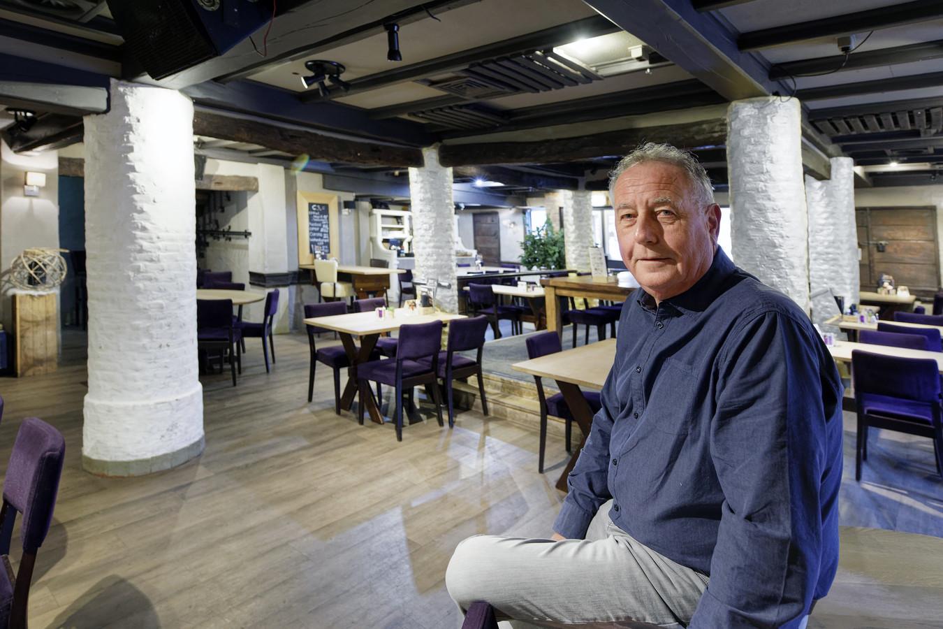 Henk Kafoe in het voormalige restaurant van 't Pakhuyzz in Schijndel.