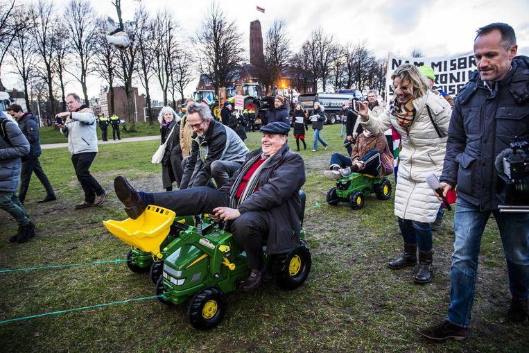 Archiefbeeld. Groningse boeren protesteren op het Malieveld in 2018.  Beeld ANP
