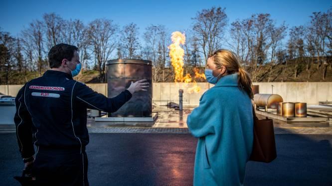 IN BEELD. Minister Verlinden brengt werkbezoek aan Limburgse veiligheidsschool PLOT