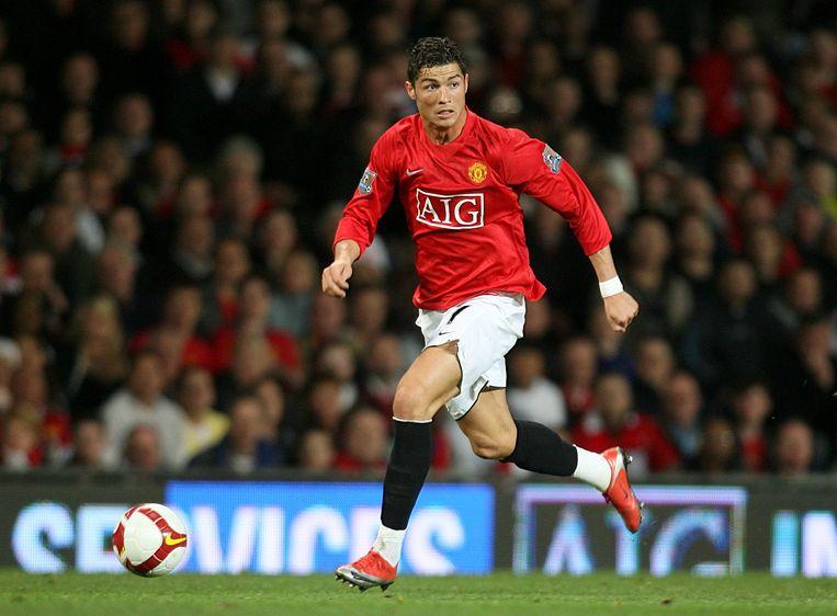 Cristiano Ronaldo tijdens zijn eerste passage bij Manchester United. Beeld Photo News