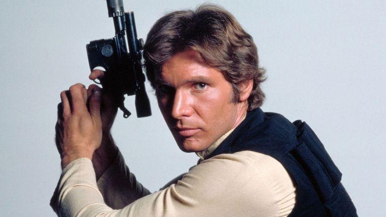 Harrison Ford en zijn 'swagger' maakten het toch wat eendimensionale karakter Han Solo tot een icoon. Beeld RV