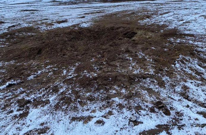 De mortier werd op de Oirschotse Heide tot ontploffing gebracht.