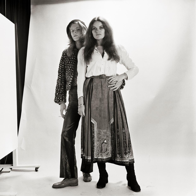 Gillespie met David Bowie Beeld Getty Images