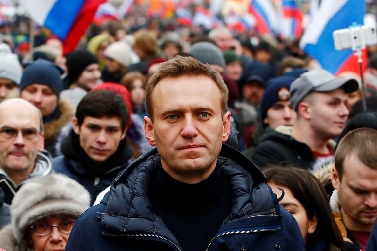 Aleksej Navalny in Moskou, 2019. Beeld Getty Images