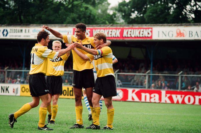 De Graafschap - NAC, nacompetitie 1993. Met Pierre van Hooijdonk.