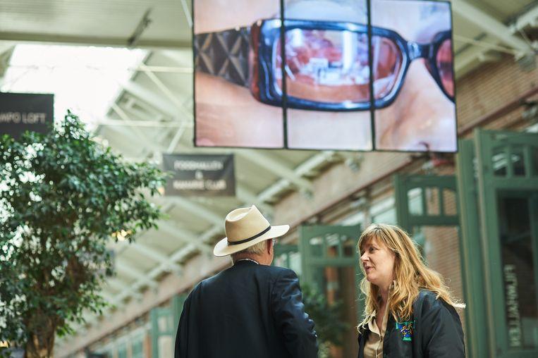 Videoinstallatie Changeroom in De Hallen.  Beeld Victoria Ushkanova
