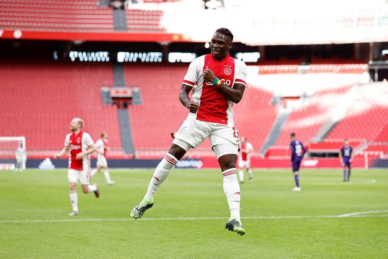 Lassina Traoré speelde drie jaar geleden nog in de jeugdopleiding van Rahimo FC. Beeld Maurice van Steen/ANP