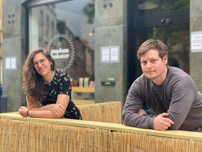 Laura Verhulst en weldoener Wesley Van Rie.