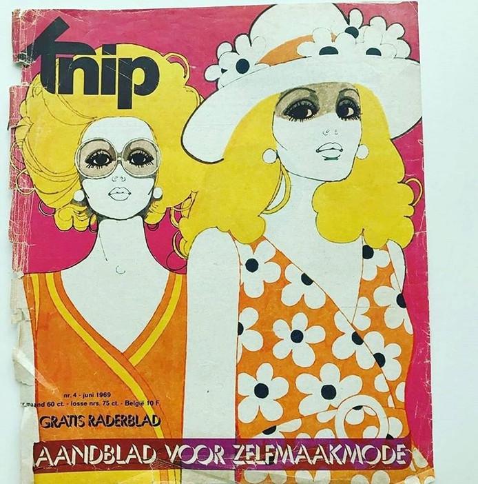 Cover van juni 1969, een van de eerste nummers van Knip Mode.