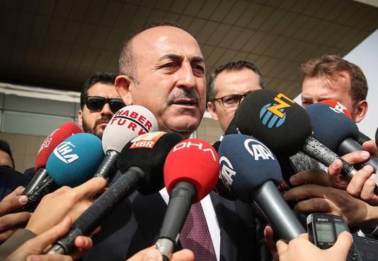 De Turkse minister Mevlüt Çavuşoğlu (Buitenlandse Zaken).