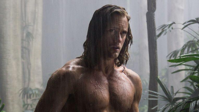 Alexander Skarsgard als Tarzan in The Legend of Tarzan. Beeld null