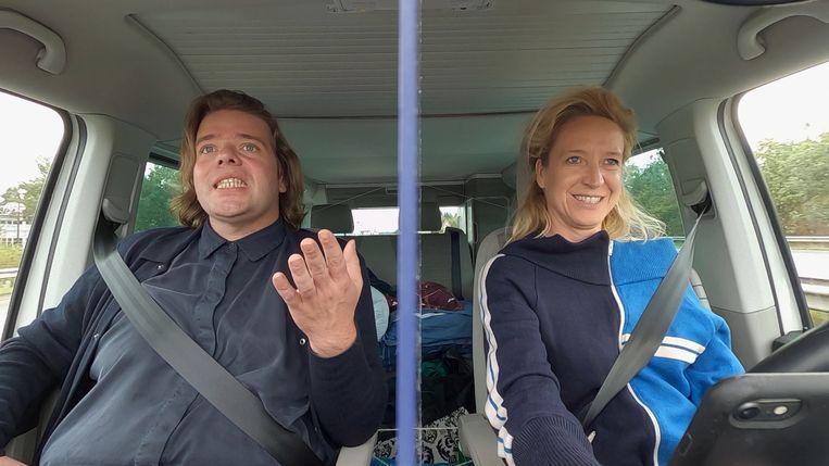 Benny Claessens en Cath Luyten in 'Buurman, wat doet u nu?' Beeld VRT