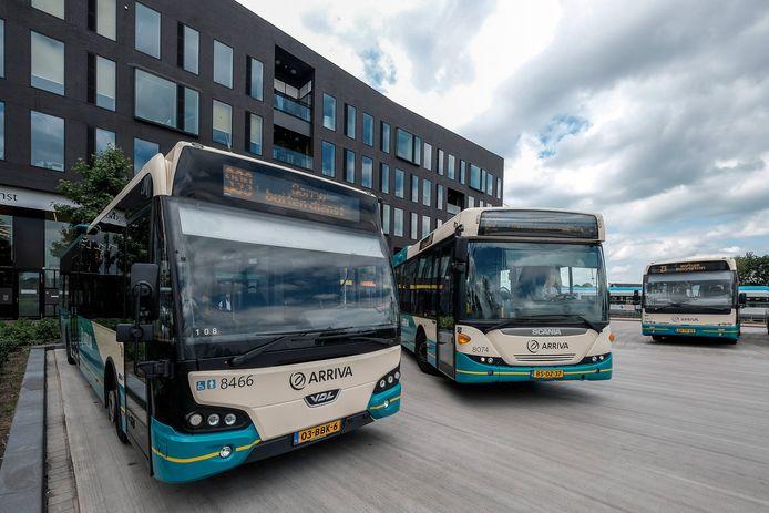 Dieselbussen van Arriva in de Achterhoek.