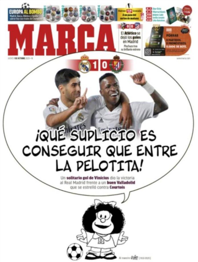 De voorpagina van Marca.