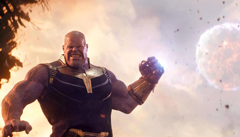 Thanos, gespeeld door Josh Brolin, in Avengers: Endgame. Beeld