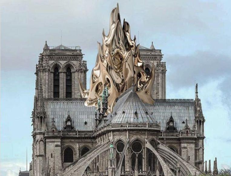 La flèche zoals ontworpen door Mathieu Lehanneur