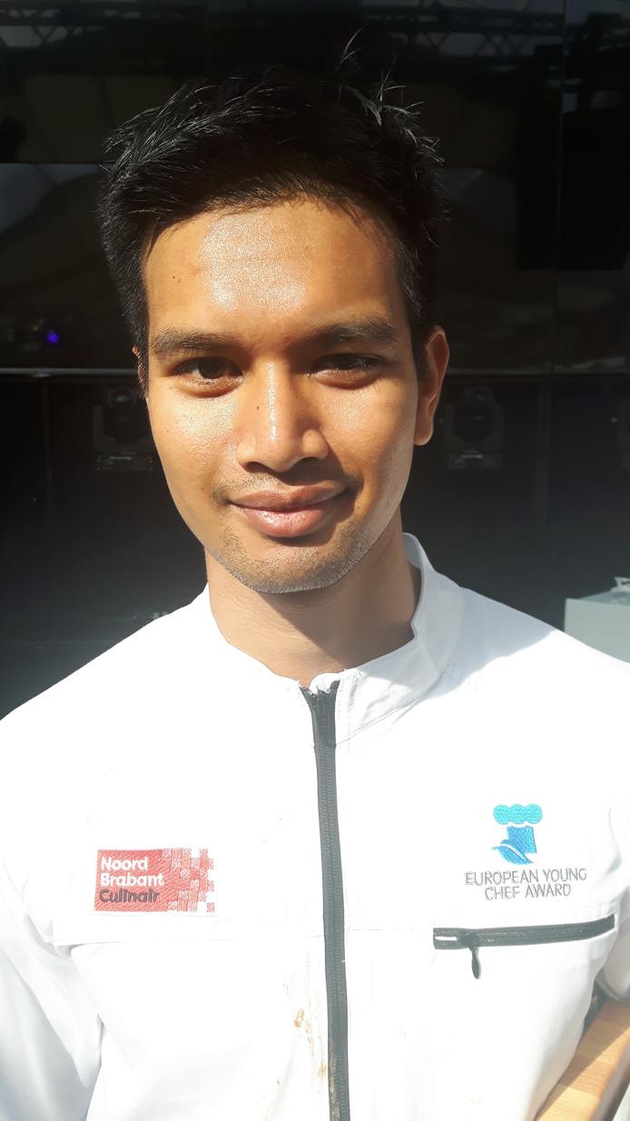 De jonge kok en winnaar Bon Sawatdee uit Heusden.