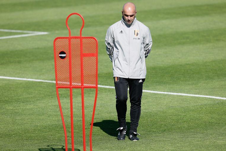 Roberto Martínez: 'We kunnen er smalend over doen, ik vind die ranking erg belangrijk en onze spelers ook. Vooral omdat we pas het derde land zijn dat zo lang die ranking na elkaar aanvoert.' Beeld BELGA