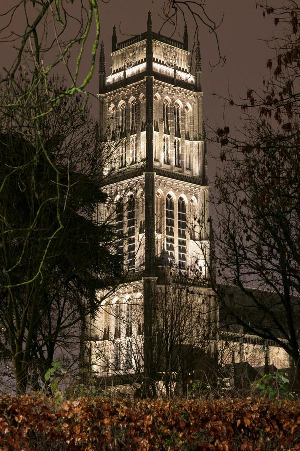 De toren van de Sint-Maartenskerk in Zaltbommel.