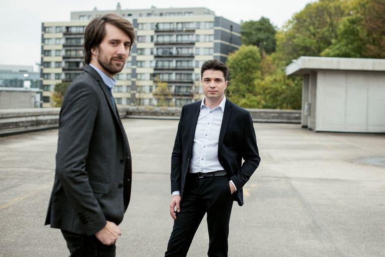 Pieterjan De Smedt (33) en Michaël Van Droogenbroeck (40).  Beeld Tim Coppens