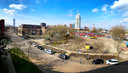 In Tilburg is de bouwlocatie Burgerijpad stilgelegd vanwege de aanwezigheid van duizendknoop.