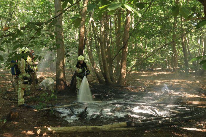 De brandweer moest het voorbije jaar vaker uitrukken voor buitenbranden door de droogte.