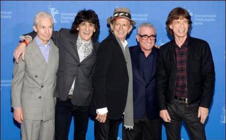 De Rolling Stones met regisseur Martin Scorsese. Beeld UNKNOWN