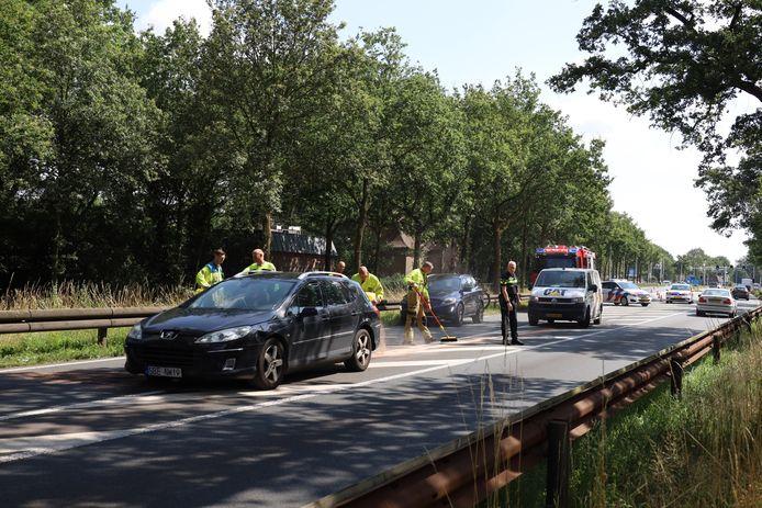 Ongeluk op de Rijksweg N234 in Schaijk