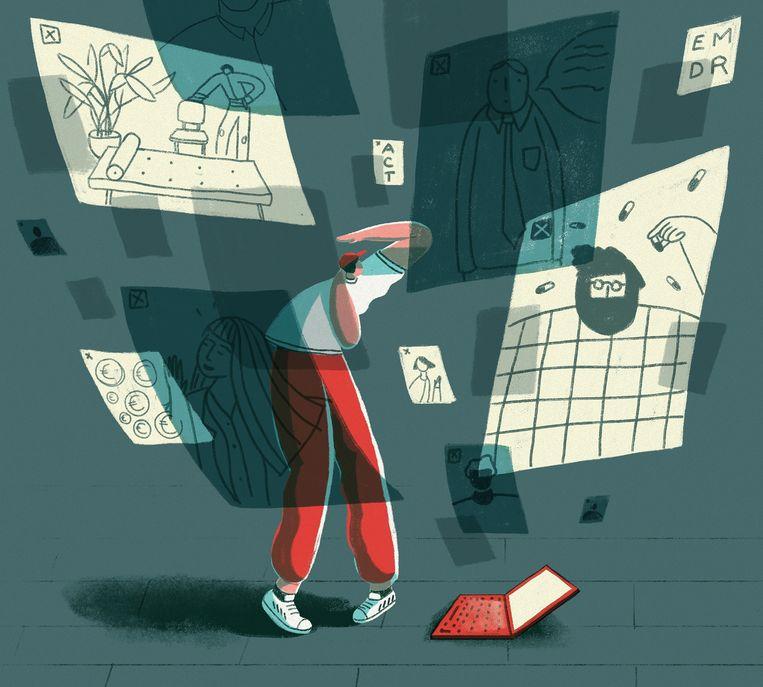 'Een psychologisch traject kan er een zijn met veel omwegen.' Beeld Elise Vandeplancke