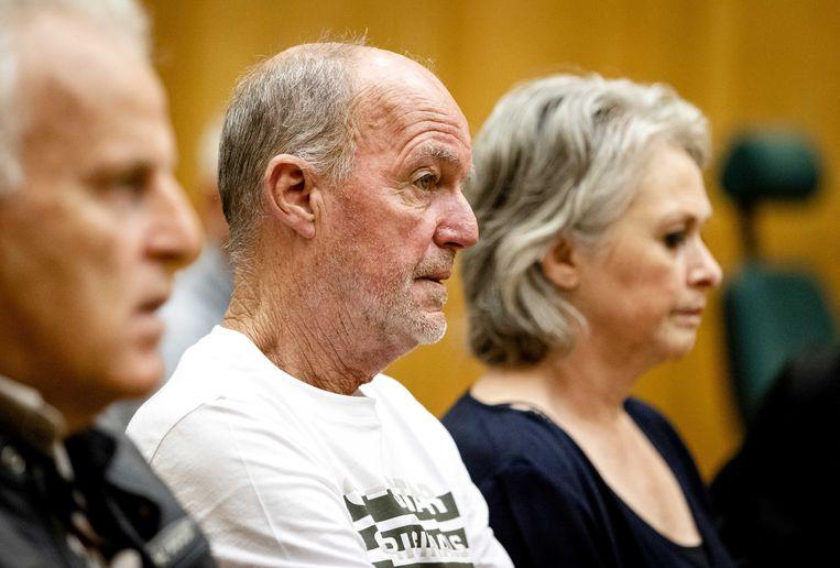 Peter R. de Vries, hier samen met Peter Verstappen en Berthie Verstappen bij de rechtszaak tegen Jos Brech. Beeld ANP