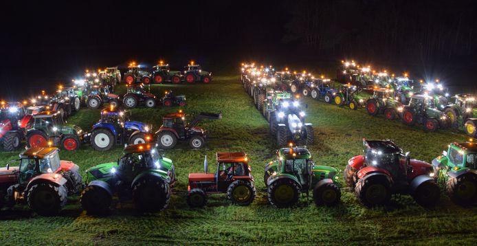 De boeren in de Noorderkempen wensen iedereen een smakelijk en gezond 2021. De actie leverde heel knappe beelden op.
