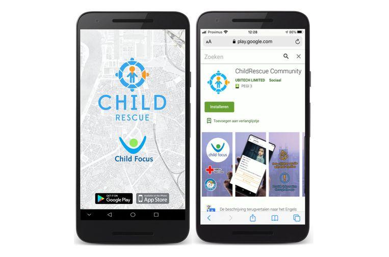 Child Focus lanceert ChildRescue app om kinderen sneller op te sporen Beeld Child Focus