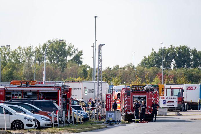 MECHELEN Brandweer rukt uit voor lekkend vat met chemische stof bij DB Schenker