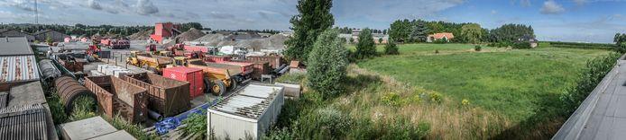 Het terrein van Bosschaert paalt aan agrarisch gebied, op 't Hoge aan de rand van de stad