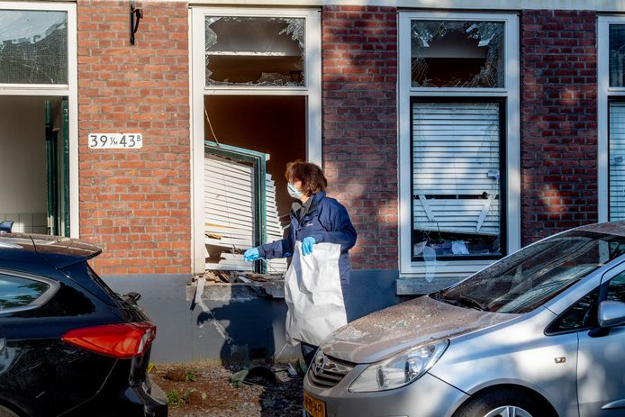 De explosie veroorzaakte een enorme ravage in de woning aan de Jagthuisstraat.