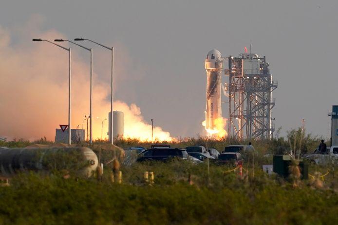 Lancering van Blue Origin's New Shepard-raket.