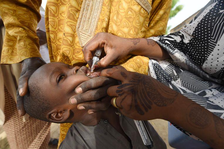 Het 'wilde' poliovirus treft vooral jonge kinderen. Beeld AFP